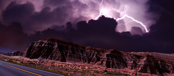 Terrifying Superstorm over Desert, See before & after photos